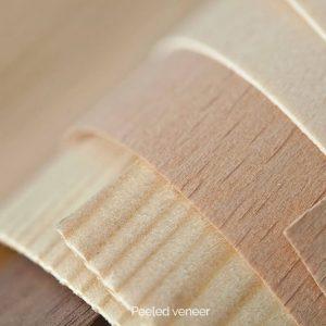 Peeled veneer
